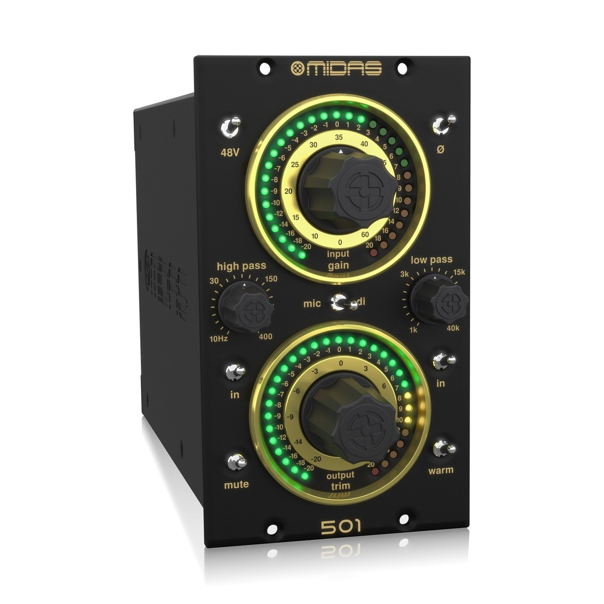Midas 501 Microphone Preamplifier At Gear4music Dynamic Amplifier Using Transistors 3 Loading Zoom