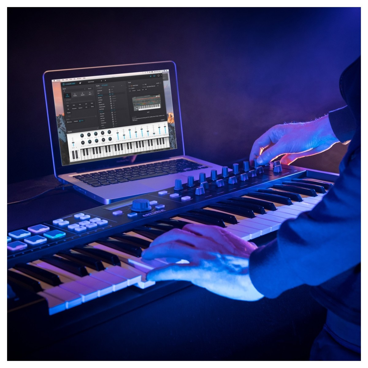arturia keylab essential 49 midi keyboard black at gear4music. Black Bedroom Furniture Sets. Home Design Ideas