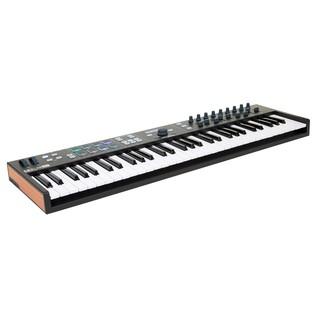 Arturia KeyLab Essential 61 MIDI Keyboard, Black - Angled