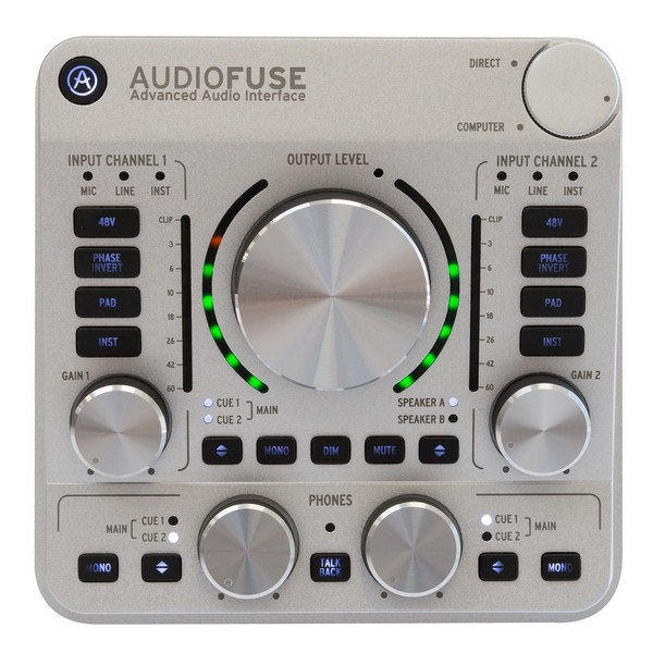 Arturia AudioFuse USB Interface for Mac, PC and iOS, Classic Silver - Main