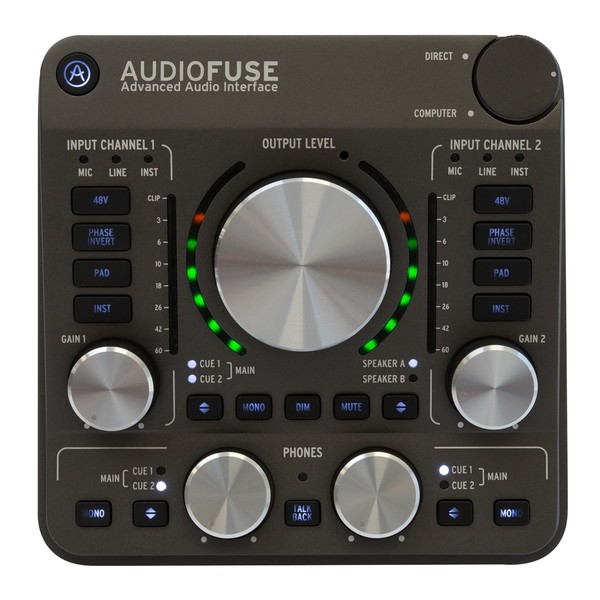 Arturia AudioFuse USB Interface for Mac, PC and iOS, Space Grey - Main