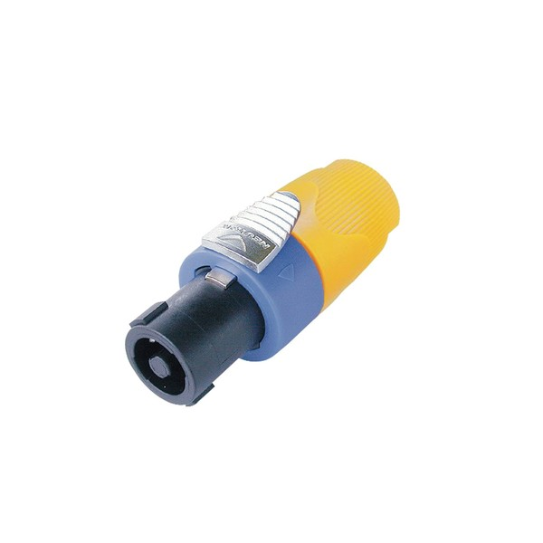 Neutrik NL4FX4 4-Pole Female SpeakON Cable Connector, Yellow 1