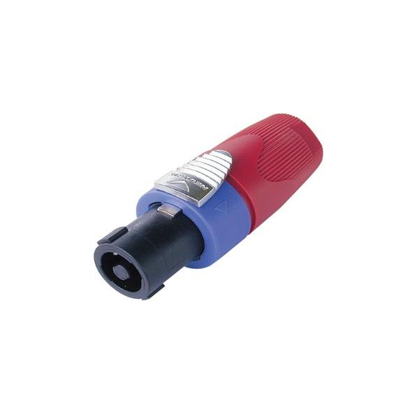 Neutrik NL4FX-2 4-Pole Female SpeakON Cable Connector, Red 1