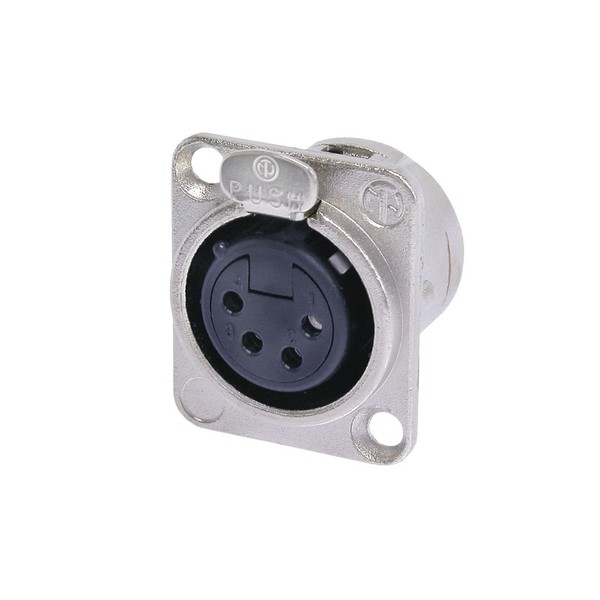 Neutrik NC4FD-L-1 4-Pole Female XLR Receptacle, Nickel Housing 1