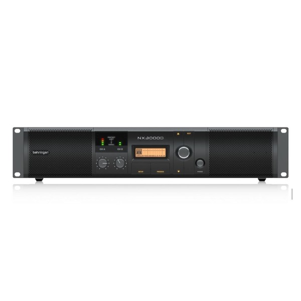 Behringer NX3000D Power Amplifier with DSP Control - front