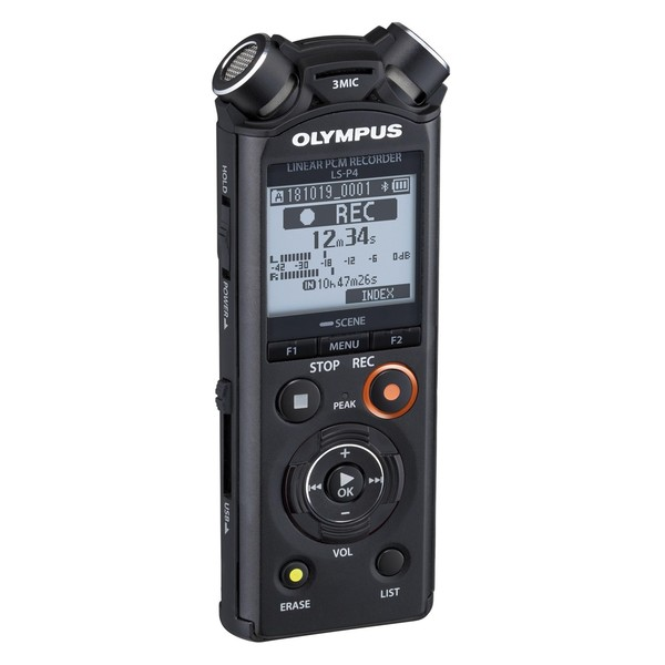 Olympus LS-P4 Hi-Res Audio Recorder - Angle Right