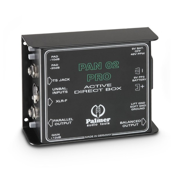 Palmer Pan 02 Pro Active DI Box, Front