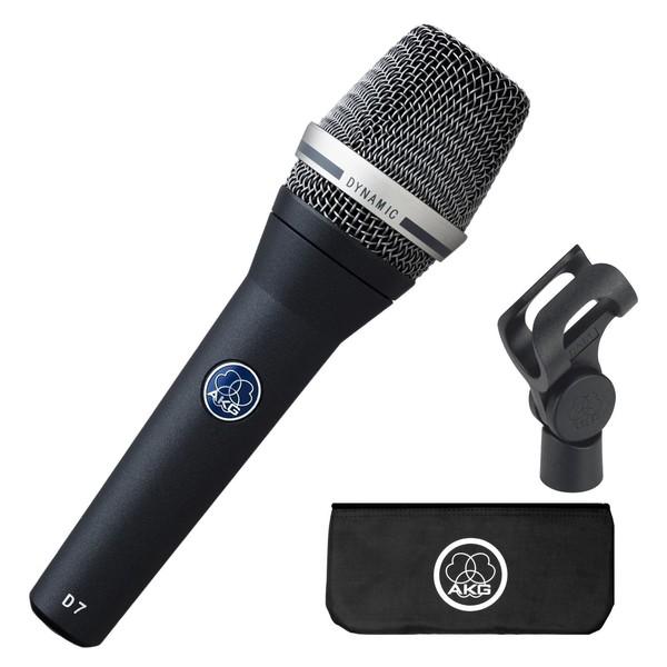 AKG D7 Dynamic Vocal Microphone - Pack