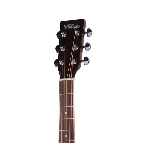 V300 Folk Acoustic Guitar Left Handed, Natural