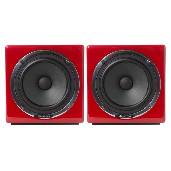 Avantone Mixcube Active Studio Monitors, Red - Main