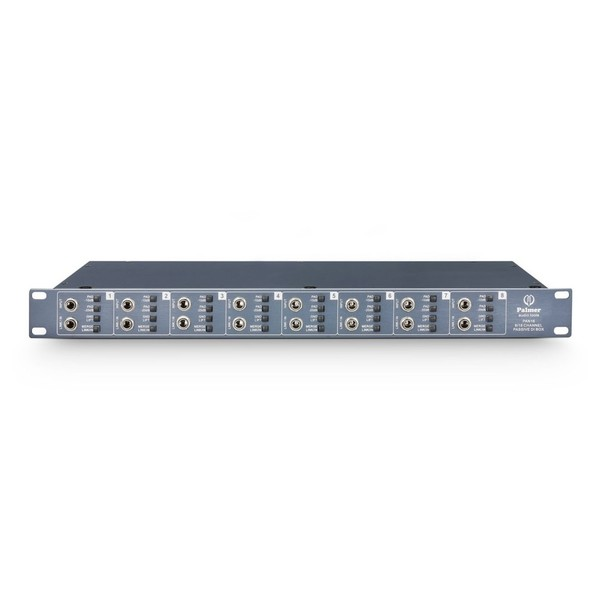 Palmer Pan 16 8 Channel Passive DI Box, Front Straight
