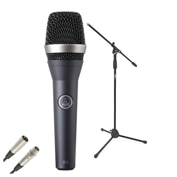 AKG D5 Dynamic Lead Vocal Mic Pack - Bundle