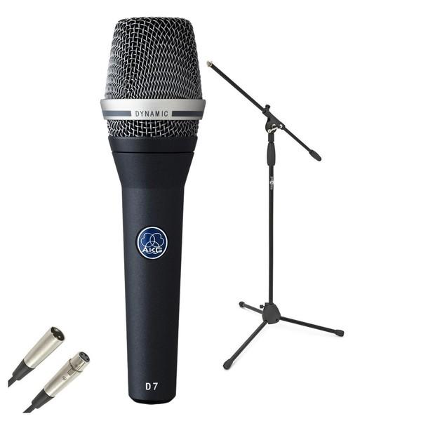 AKG D7 Dynamic Lead Vocal Mic Pack - Bundle