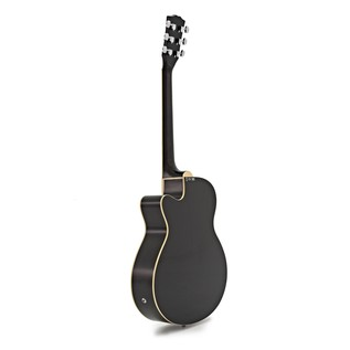 Single Cutaway Electro Acoustic Guitar by Gear4music, Black