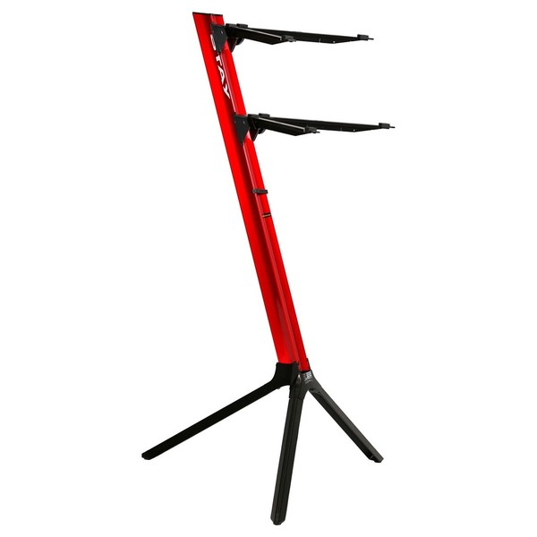 STAY Keyboard Stand SLIM, 2-Tiers, 4 Arms, Red - Main