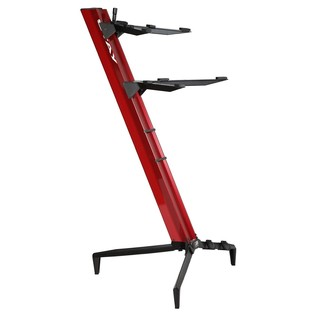 STAY Keyboard Stand TOWER, 2-Tiers, 4 Arms, Red - Angled