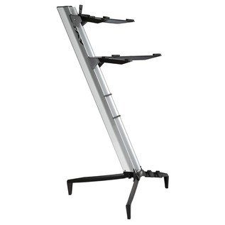 STAY Keyboard Stand TOWER, 2-Tiers, 4 Arms, Silver - Main