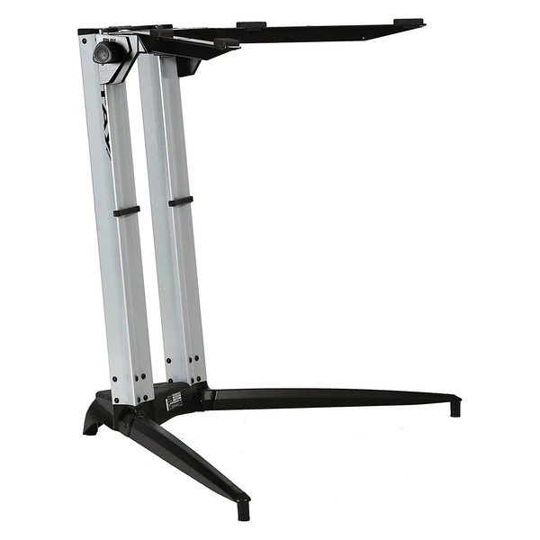 STAY Keyboard Stand PIANO, 1-Tier, 2 Arms, Silver - Main