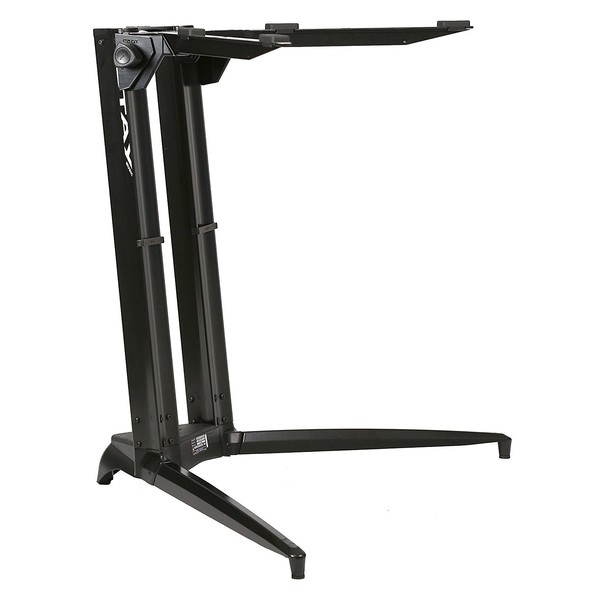 STAY Keyboard Stand PIANO, 1-Tier, 2 Arms, Black - Main