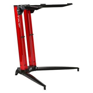 STAY Keyboard Stand PIANO, 1-Tier, 2 Arms, Red - Main