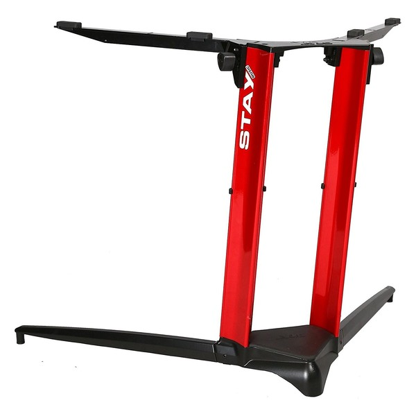 STAY Keyboard Stand PIANO, 1-Tier, 2 Arms, Red - Back