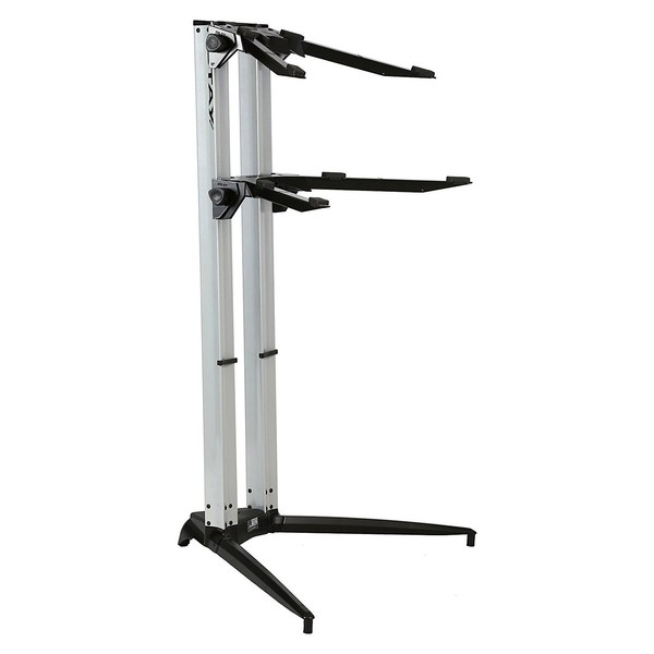 STAY Keyboard Stand PIANO, 2-Tiers, 4 Arms, Silver - Main