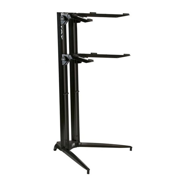 STAY Keyboard Stand PIANO, 2-Tiers, 4 Arms, Black - Main