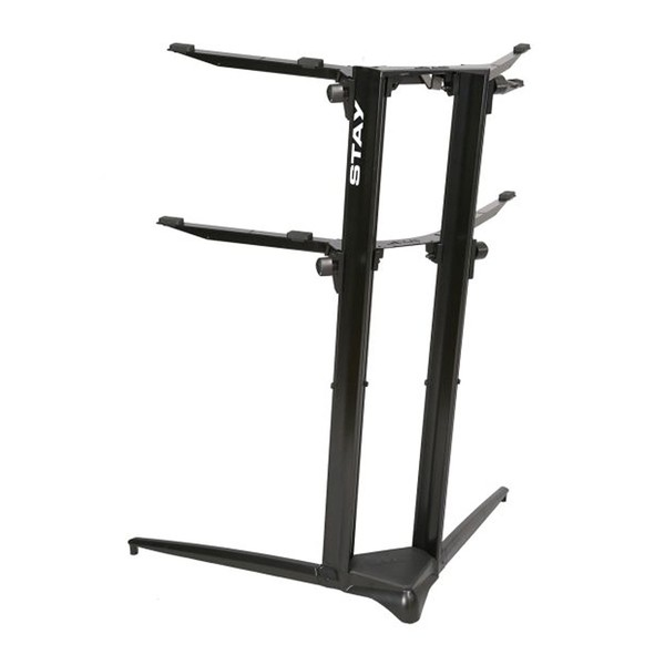 STAY Keyboard Stand PIANO, 2-Tiers, 4 Arms, Black - Back