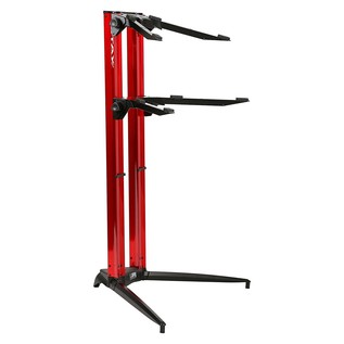 STAY Keyboard Stand PIANO, 2-Tiers, 4 Arms, Red - Main