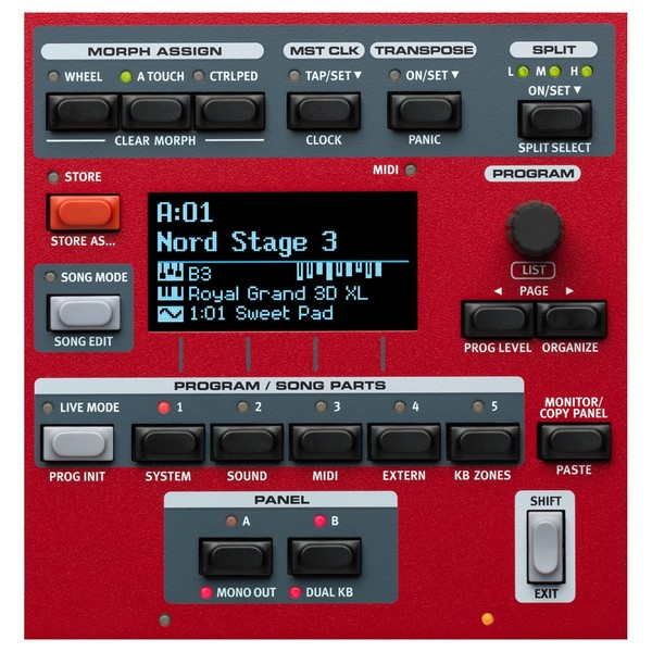 Nord Stage 3 HP76 Digital Piano - Program Section