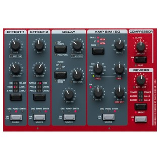 Nord Stage 3 HP76 Digital Piano - Effect Section