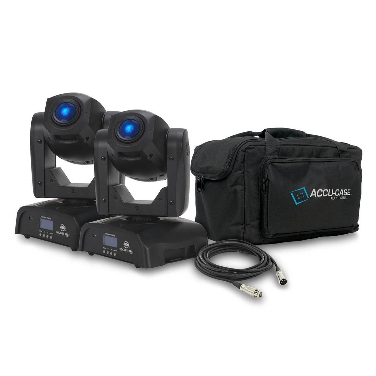 dea6aa69bd99d ADJ Pocket Pro Spot Moving Head, Pair with Free Bag and Cables ...