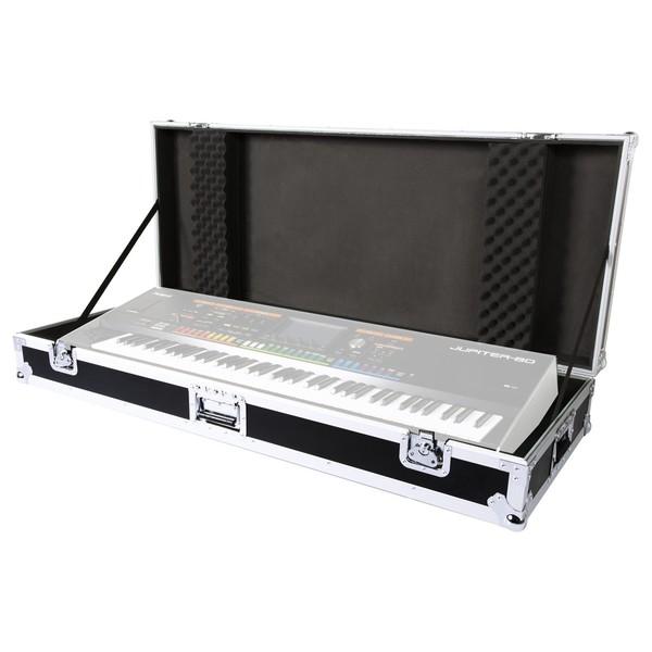 Roland RRC-76W 76 Key Keyboard Case with Wheels with keyboard