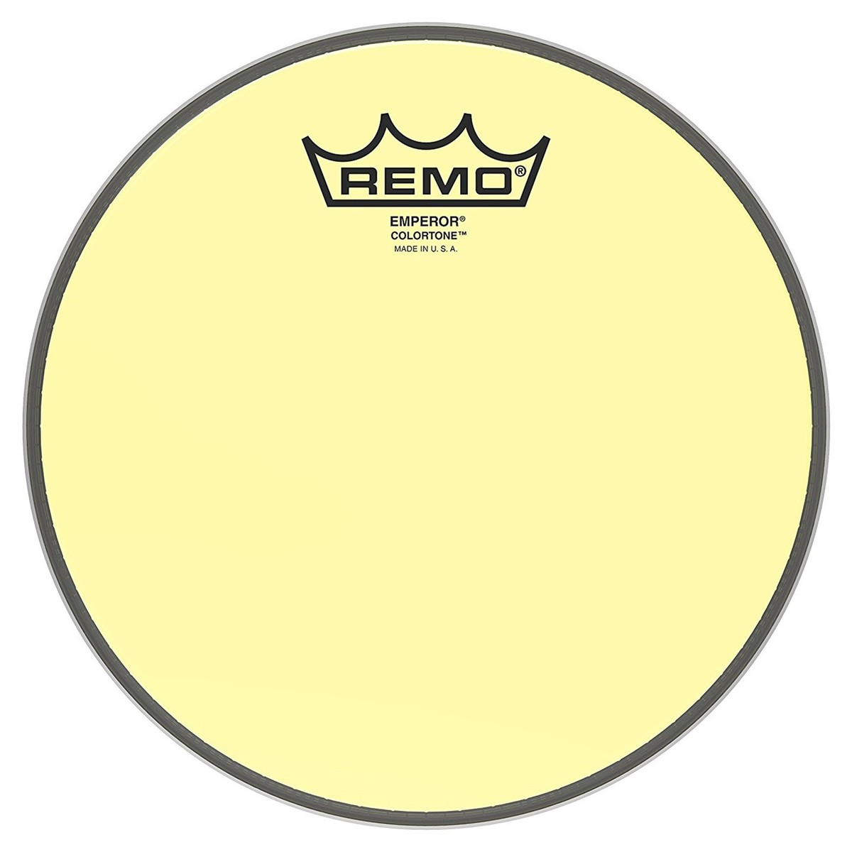 Click to view product details and reviews for Remo Emperor Colortone Yellow 8 Drum Head.