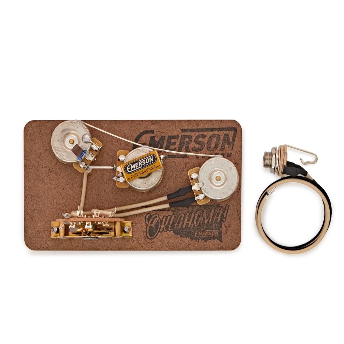 Emerson Custom 5 Way Blender Prewired Kit 500k At Gear4music Switch Wiring Diagram On Guitar 3