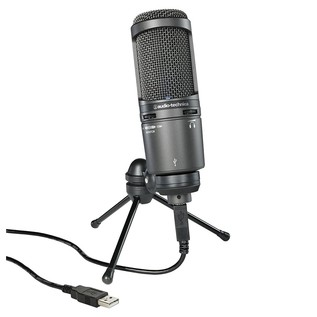 Audio Technica AT2020USB+ Cardioid Condenser Microphone, With Stand and USB Cable