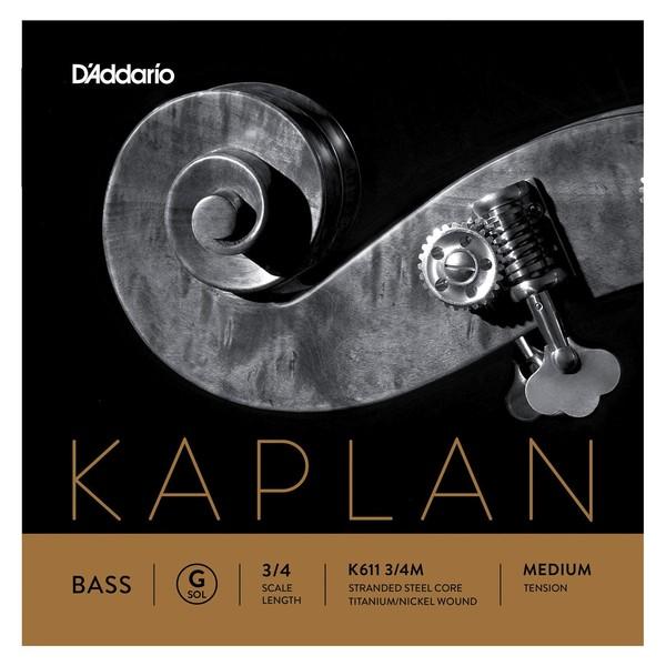D'Addario Kaplan Double Bass G String, 3/4 Size, Medium