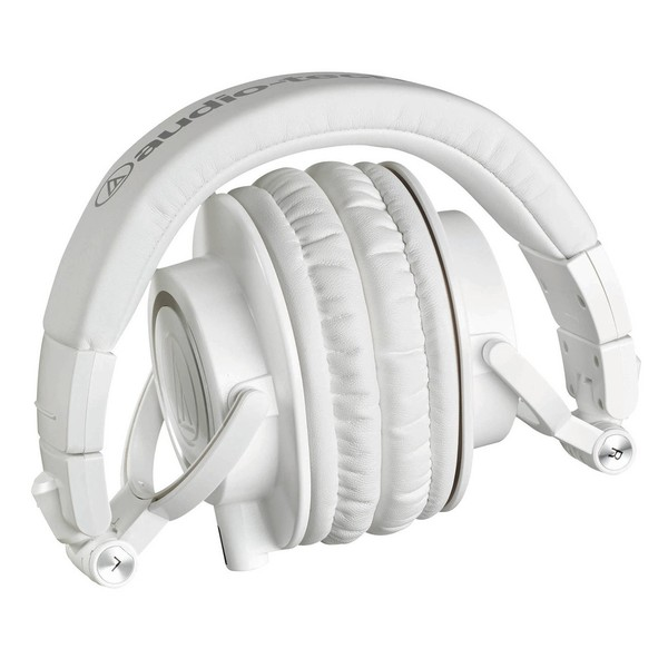 Audio Technica ATH-M50xWH Professional Monitor Headphones, Folded