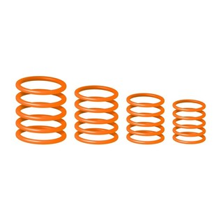 Gravity Universal G-Ring Pack, Electric Orange Stacked