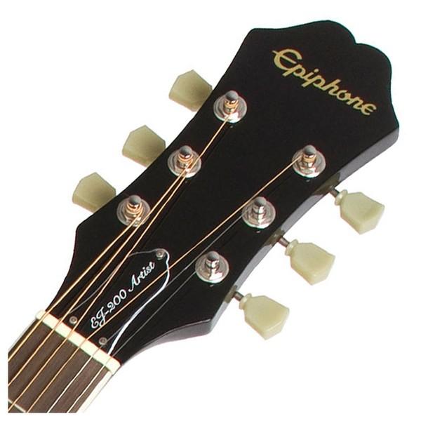 Epiphone EJ-200 Artist Acoustic, Translucent Black - headstock
