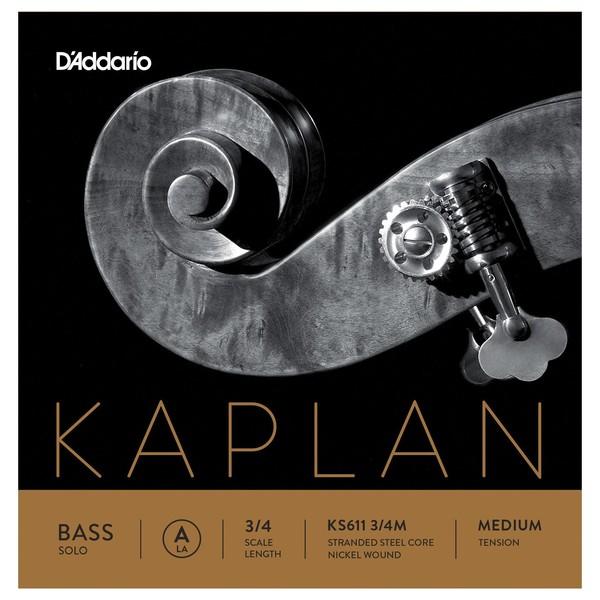 D'Addario Kaplan Solo Double Bass String Set, 3/4 Size, Medium
