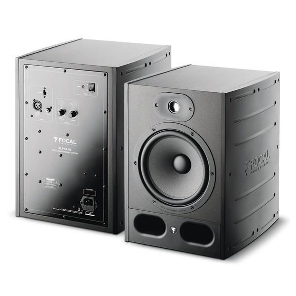 Focal Alpha 80 Active Studio Monitor (Single) - Front & Back