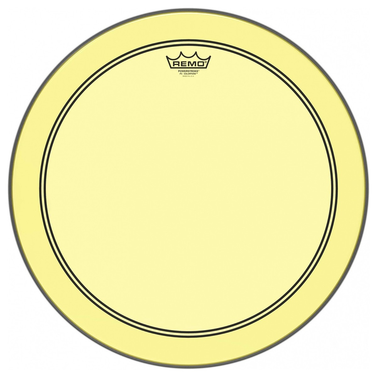 remo powerstroke 3 colortone yellow 26 39 39 bass drum head at gear4music. Black Bedroom Furniture Sets. Home Design Ideas