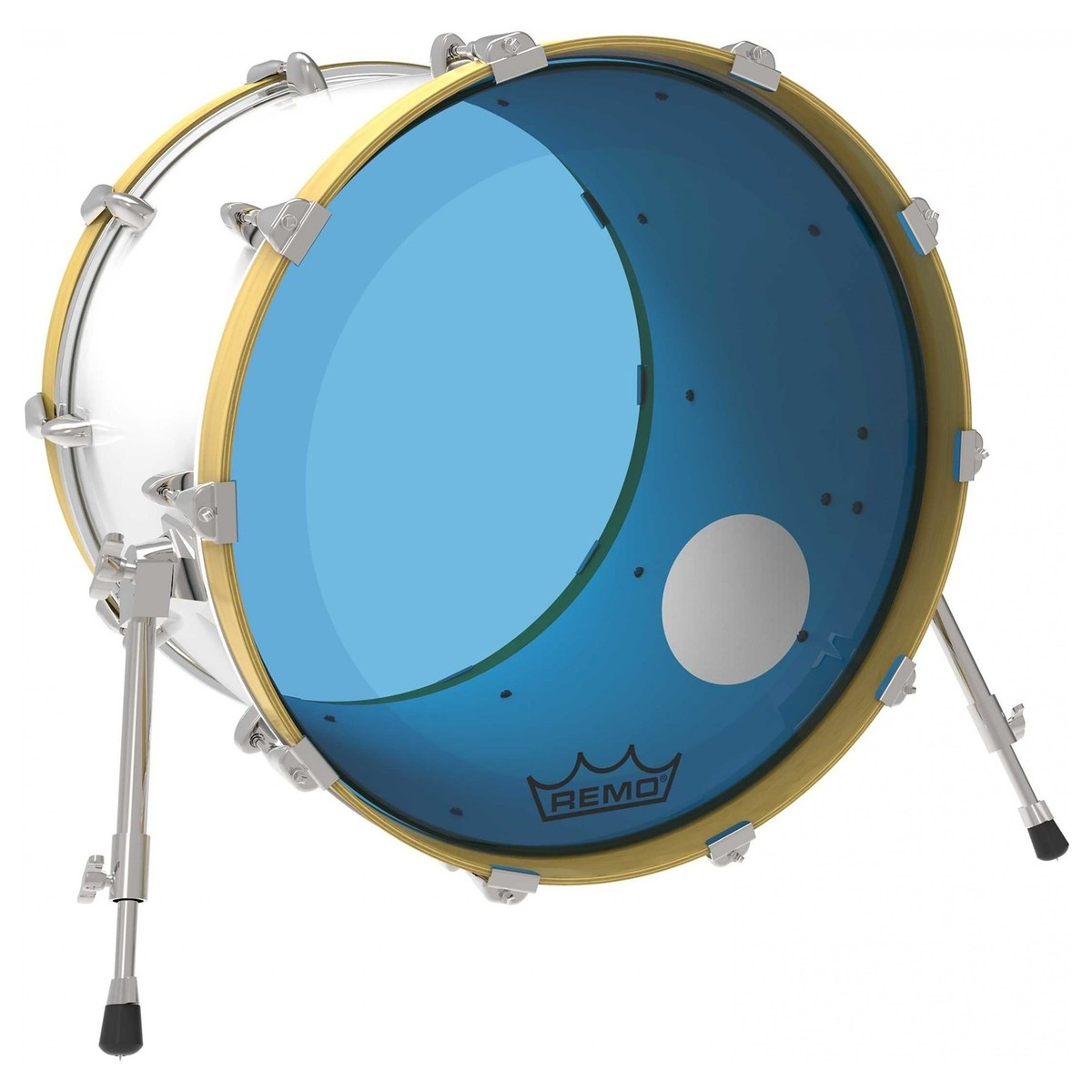 remo powerstroke 3 colortone blue 24 39 39 ported bass drum head at gear4music. Black Bedroom Furniture Sets. Home Design Ideas