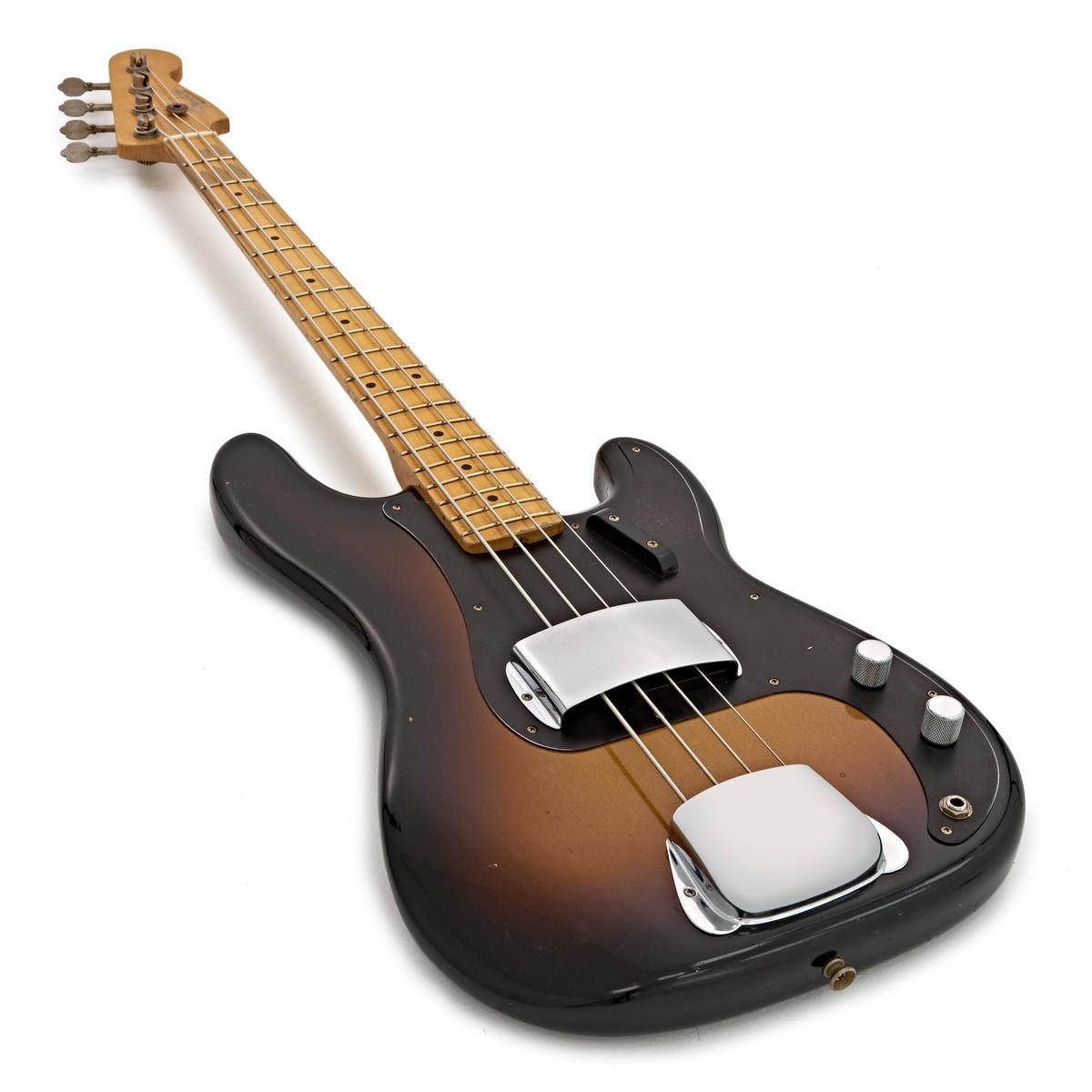 fender custom shop 1958 journeyman relic p bass 2 tone sunburst at gear4music. Black Bedroom Furniture Sets. Home Design Ideas