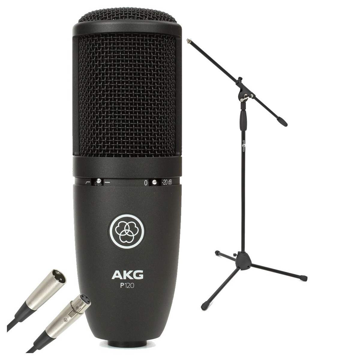 Akg P120 Large Diaphragm Condenser Microphone With Stand Cable At Ribbon Diagram Bundle Loading Zoom