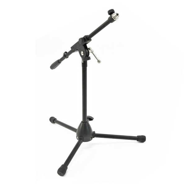 Low Mic Stand with Extending Boom Arm - Angled