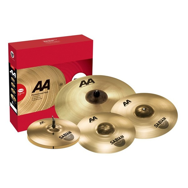 Sabian AA Raw Bell Promo Pack - Box With Cymbals