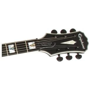 Epiphone Prophecy Les Paul Custom Plus EX w/ EMG's, Midnight Ebony Headstock