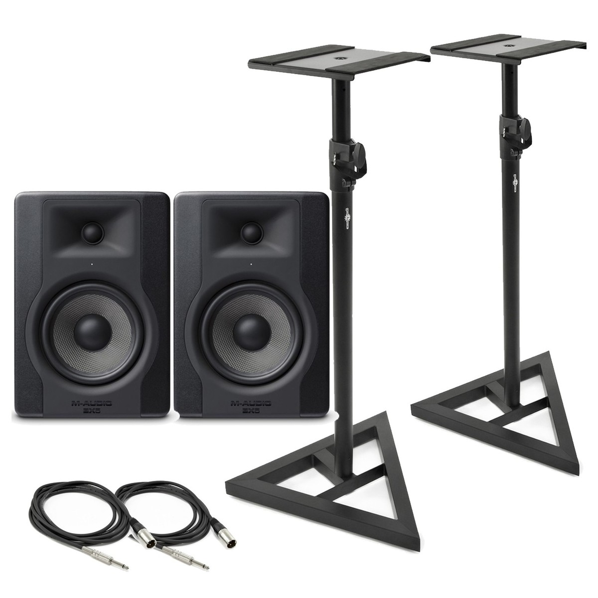 Cheap M-Audio BX5-D3 Monitor Pair with Stands & Cables